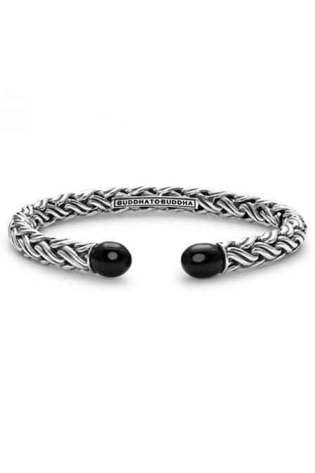 Buddha to buddha katja torque stone bracelet black onyx