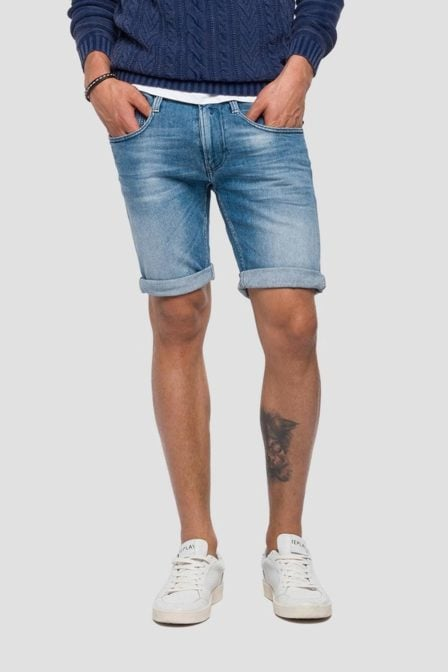 Replay anbass slim fit bermuda short denim