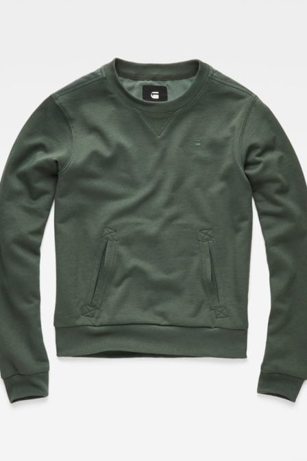 G-star cropped hybrid archive sweater green