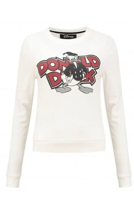 Nikkie by nikkie donald duck sweater off white