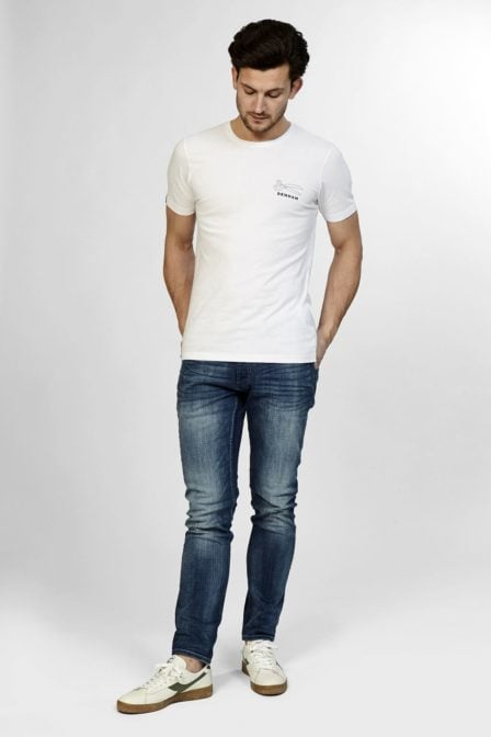 Denham jeans and co t-shirt optic white