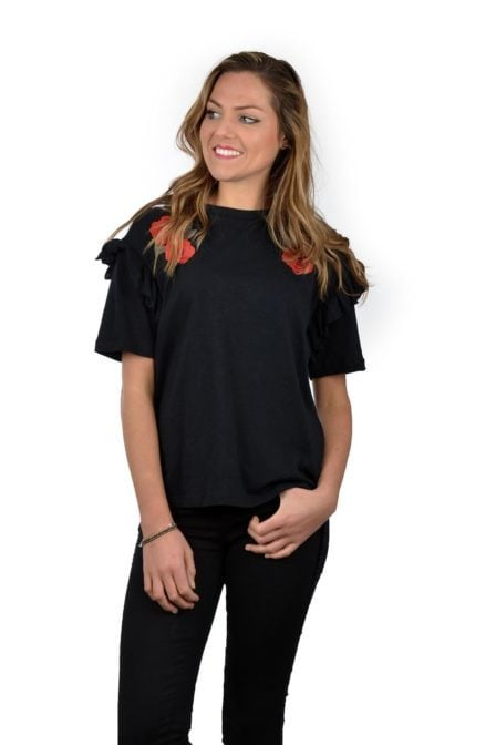 Catwalk junkie t-shirt rosamond black