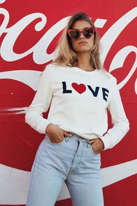 Catwalk junkie love freak sweater off white