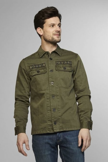 Denham notion shirt sctw artillery green