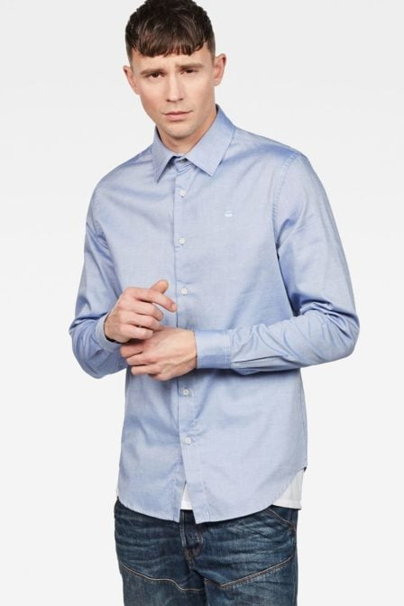G-star raw core shirt nassau blue/white