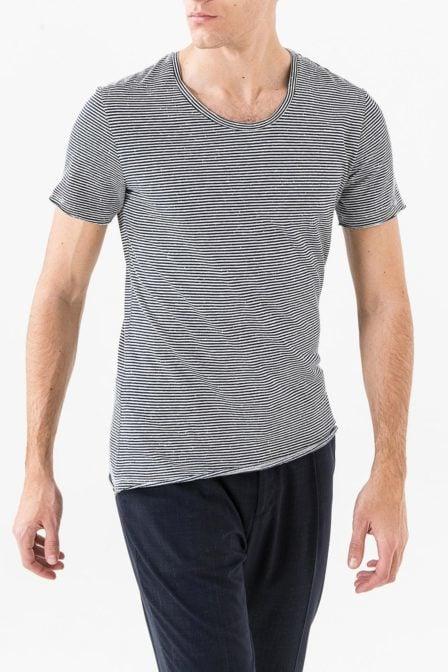 Antony morato micro stripe t-shirt light blue