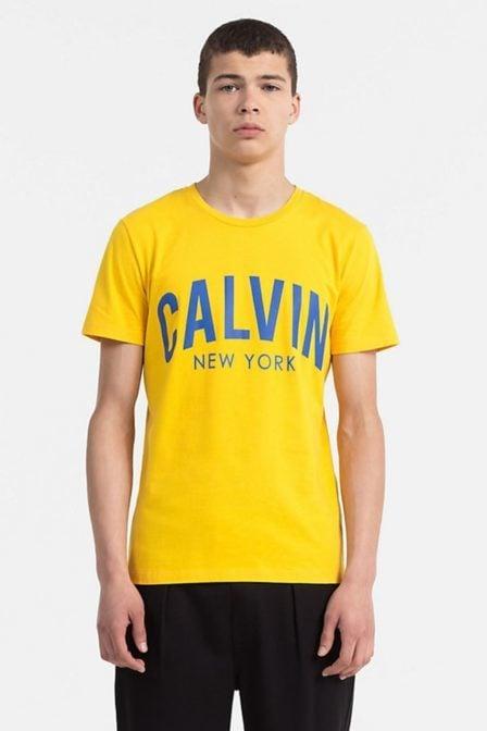 Calvin klein tibokoy slim tee spectra yellow