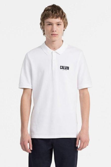Calvin klein polis polo bright white
