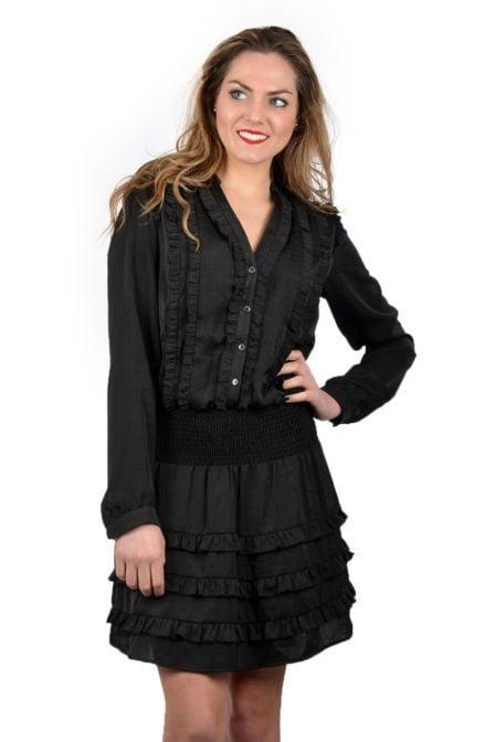 Alix shiny dress black