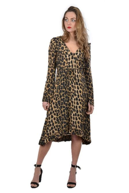Alix leopard dress sand