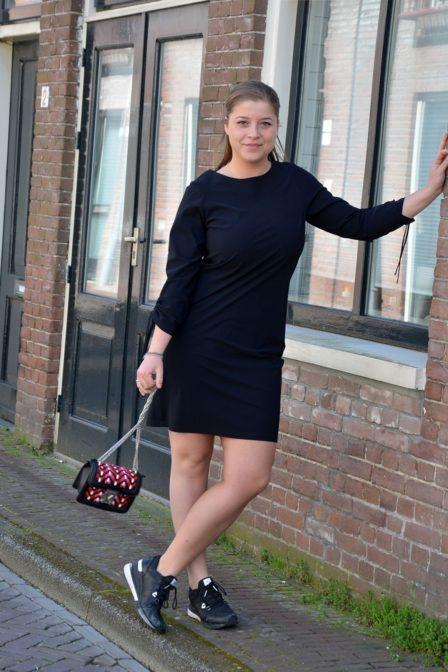 Studio anneloes taste plain dress black