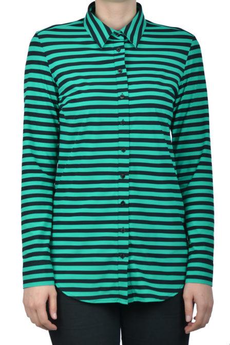 Studio anneloes poppy stripe blouse black green