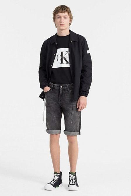 Calvin klein hotoro regular fit sweater black/white