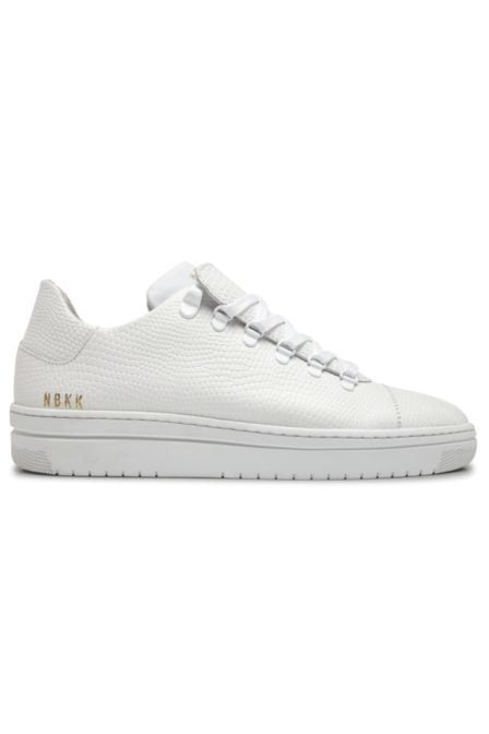 Nubikk yeye lizard sneakers white