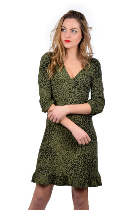 Alix animal dress army