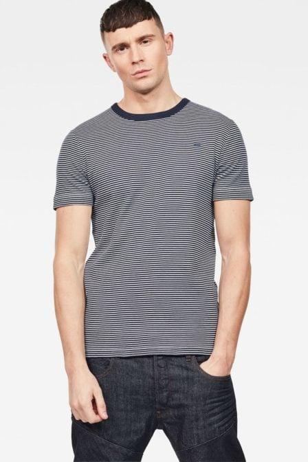G-star raw ciaran stripe shirt white/blue