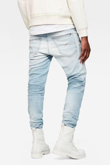 G-star 3301 slim jeans light aged small destroy