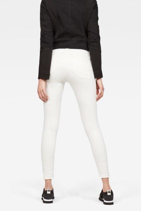 G-star raw lynn d-mid waist super skinny ankle jeans rinsed