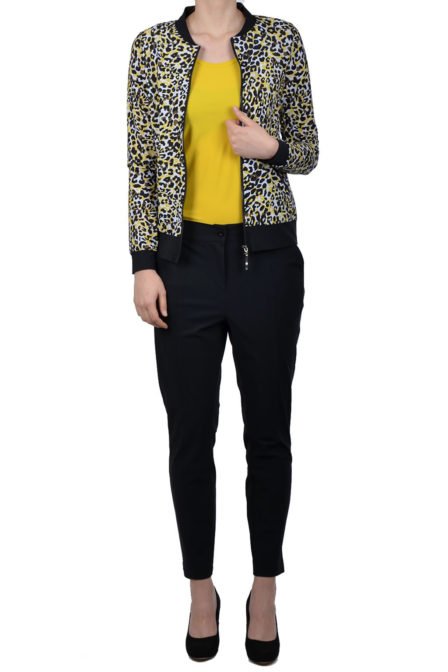 Studio anneloes bomber leopard black/curry
