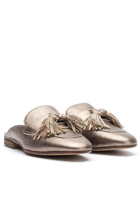 Unisa old gold leather loafer