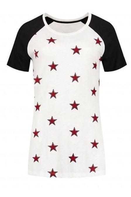 Nikkie by nikkie star t-shirt off white/black