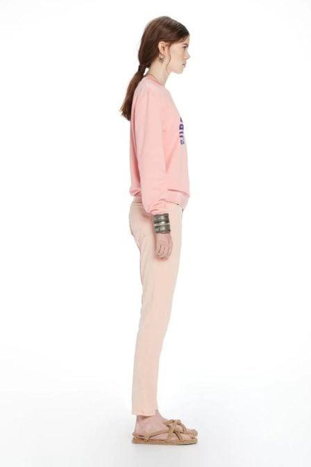 Maison scotch surf-inspired artwork sweater pink