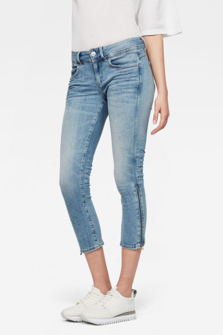 G-star raw lynn mid skinny paints spots