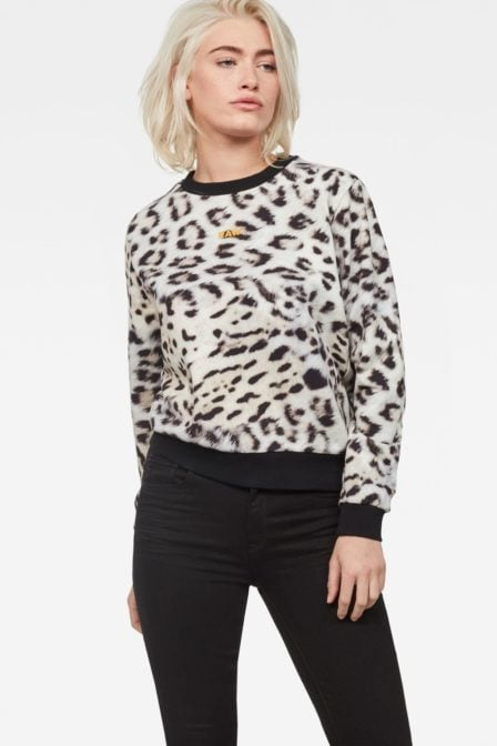G-star leopard cropped sweater