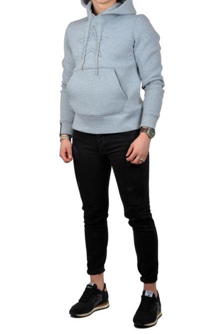 Airforce hoodie emboss star grey