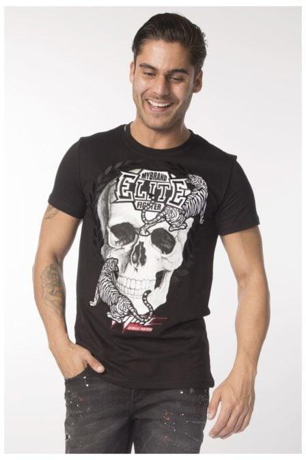 My brand elite skull tiger t-shirt black