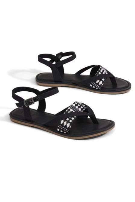 Toms klassieke canvas lexie sandalen zwart