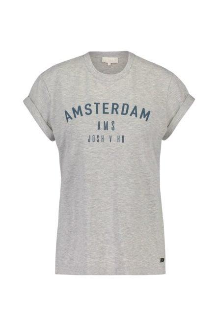 Josh v dora t-shirt grey melange