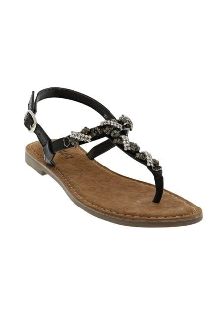 Lazamani sandals strass stones black