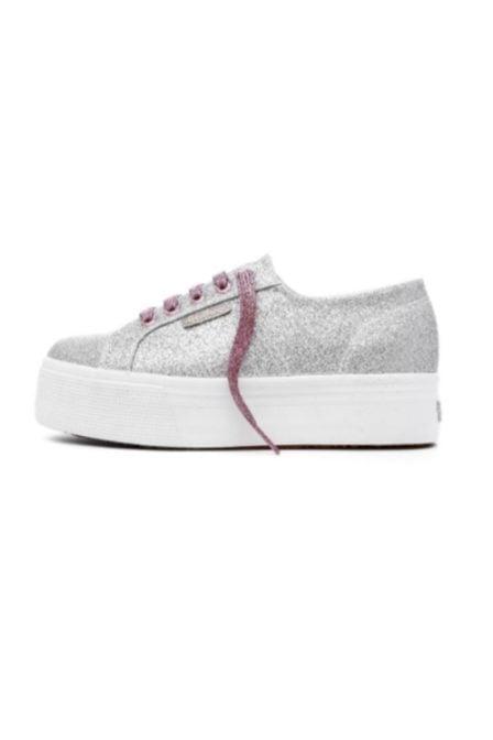Superga microglitterw sneaker grey silver