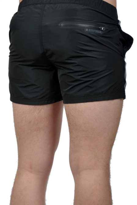 Airforce swimshort tape black