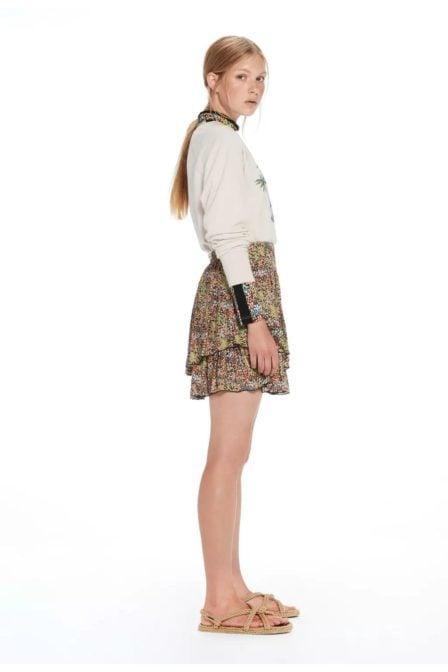 Maison scotch double layer mini skirt