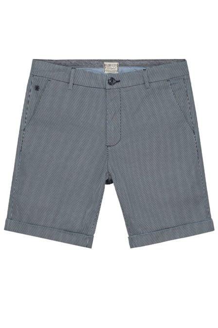 Dstrezzed slim chino shorts print stripe navy