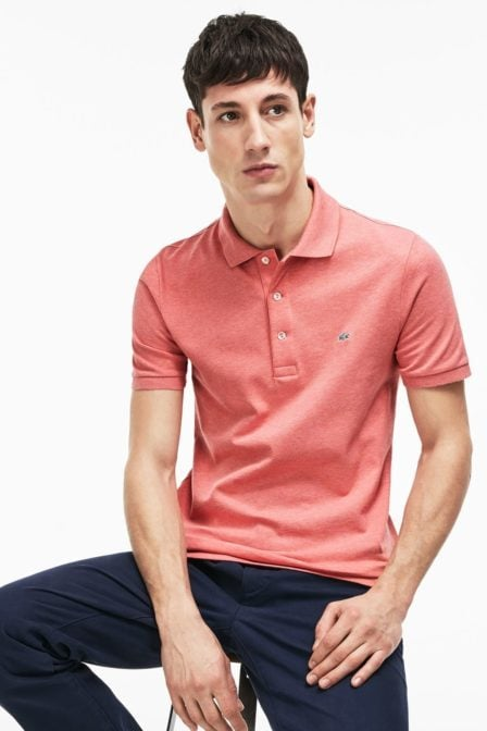Lacoste slim fit polo hippy chine