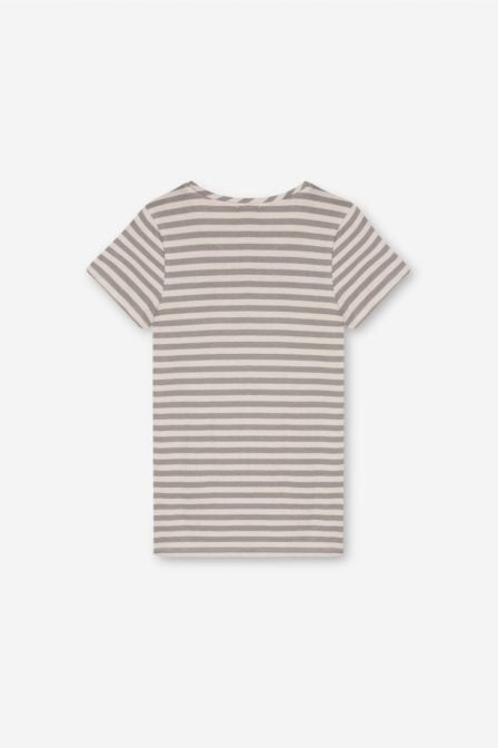 Alix striped rib t-shirt pastel pink