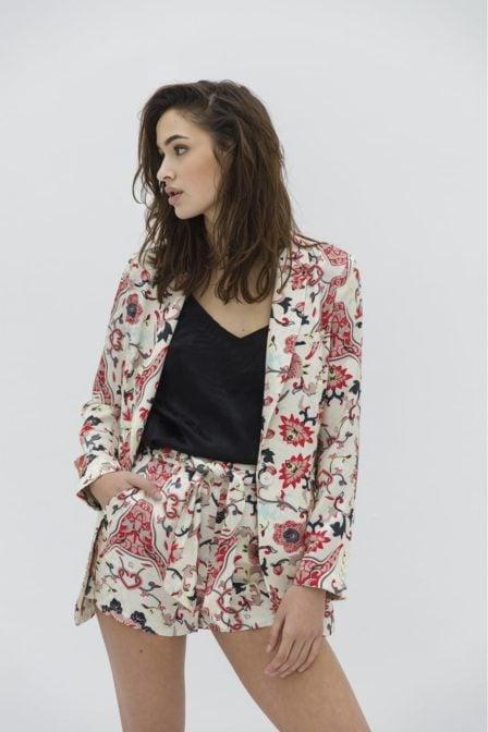 Alix flower printed blazer