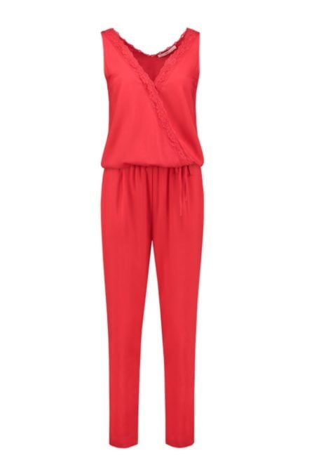 Aaiko charlin jumpsuit red