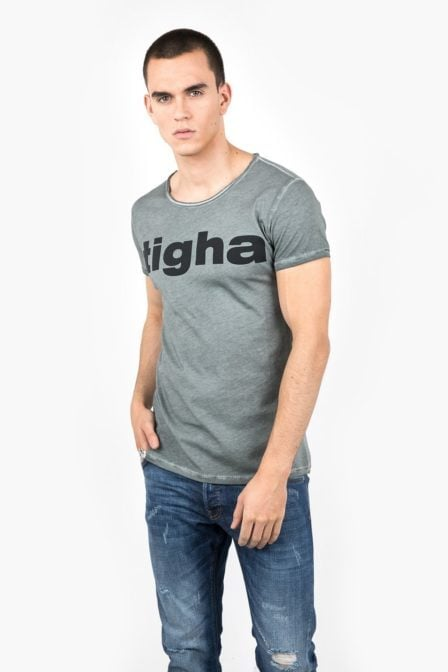 Tigha logo vintage t-shirt msn grey