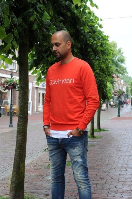 Calvin klein flame scarlet sweater