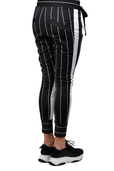 Elias rumelis selena loose fit pants black stripe