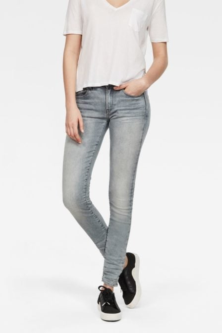 G-star raw 3301 deconstructed mid waist skinny jeans light aged