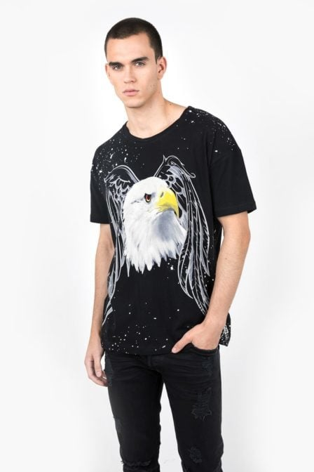 Tigha eagle msn t-shirt vintage black