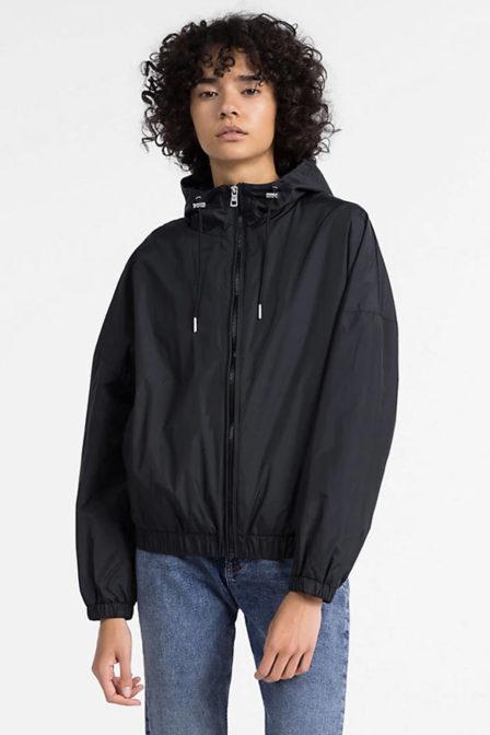 Calvin klein hooded zip nylon jack black