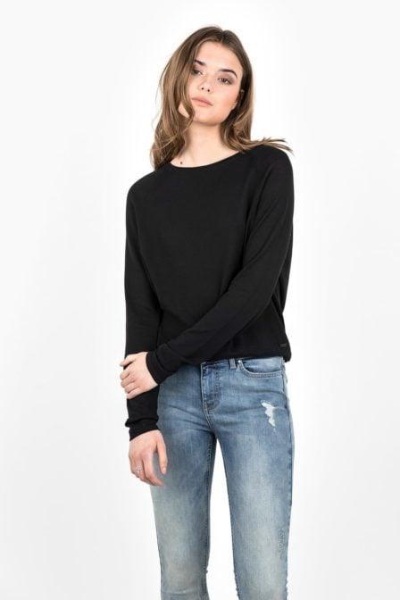 T-shirt tigha lacy black