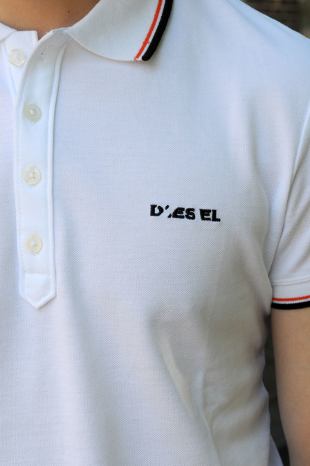Diesel t-randy broken polo white