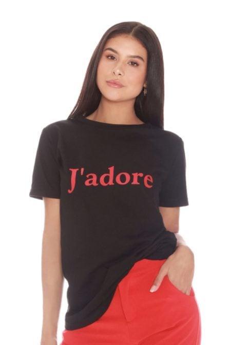 La sisters jadore tee black